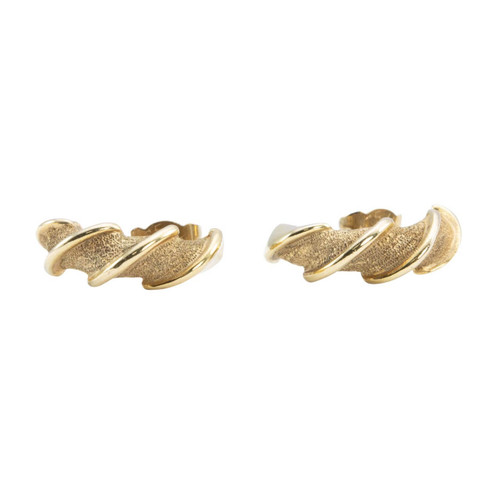 Second Hand 9ct Gold Half Hoop Earrings