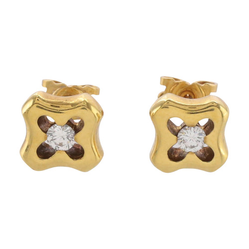 Second Hand 18ct Gold Diamond Earrings