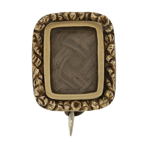 Front Image of Antique 9ct Gold Mourning Brooch