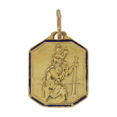 Second Hand 18ct Gold St Christopher Pendant