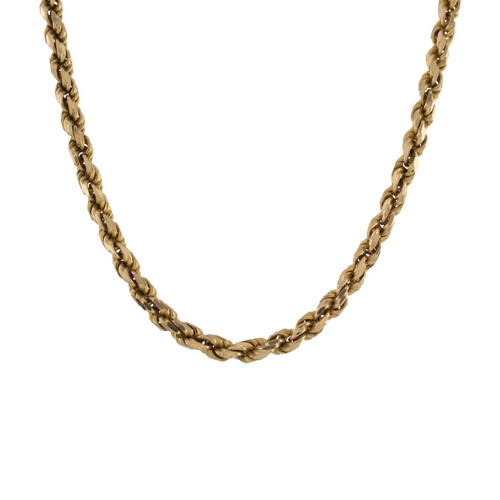 "Second Hand 9ct Gold 30"" Long Solid Rope Chain"