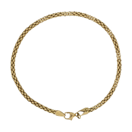 Second Hand 9ct Gold Popcorn Link Bracelet