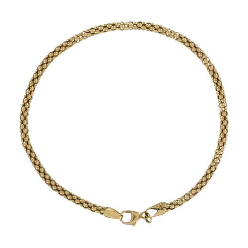Second Hand 9ct Gold Popcorn Link Bracelet