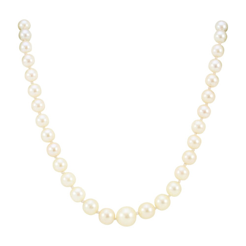 "Pre Owned Graduated 17"" Cultured Pearl Necklace"