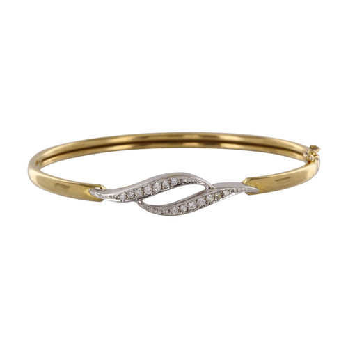 Second Hand 18ct Gold Ornate Bangle