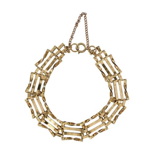 Second Hand 9ct Gold 4 Bar Gate Bracelet