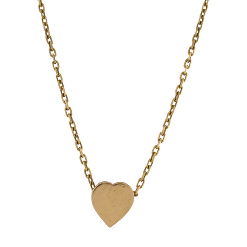 Second Hand 9ct Gold Heart Necklace