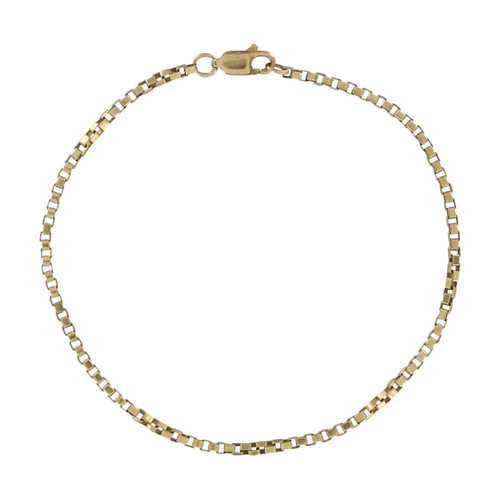 Second Hand 9ct Gold Briolette Box Bracelet
