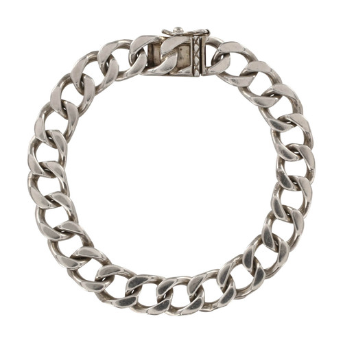 Second Hand Silver Heavy Weight Flat Curb Bracelet