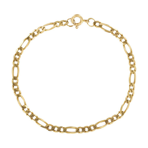 Second Hand 9ct Gold Figaro Bracelet