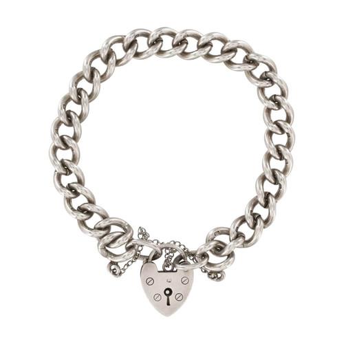 Second Hand Silver Curb Link Charm Bracelet