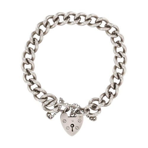 Second Hand Silver Curb Link Charm Bracelet