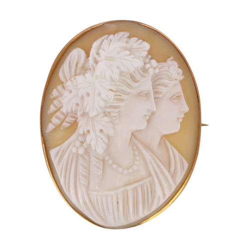 Second Hand 9ct Gold Cameo Brooch / Pendant