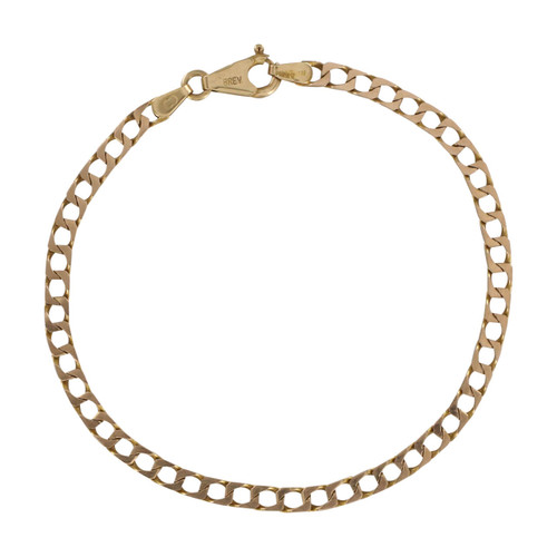 Second Hand 9ct Gold Twisted Flat Curb Bracelet