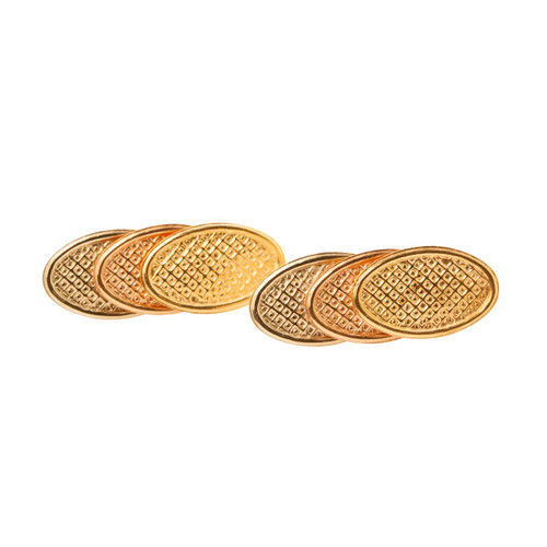 Second Hand 18ct 3 Colour Gold Earrings
