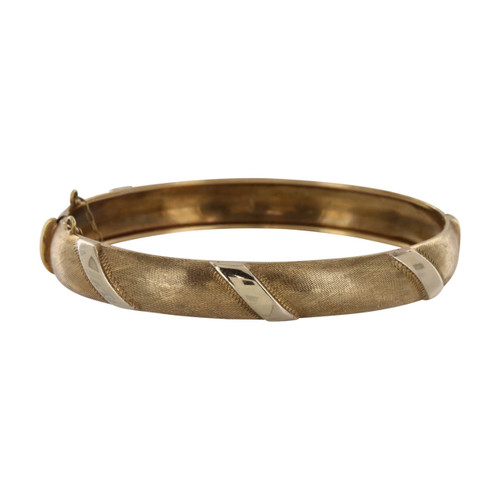 Second Hand 9ct Gold Wide Bangle