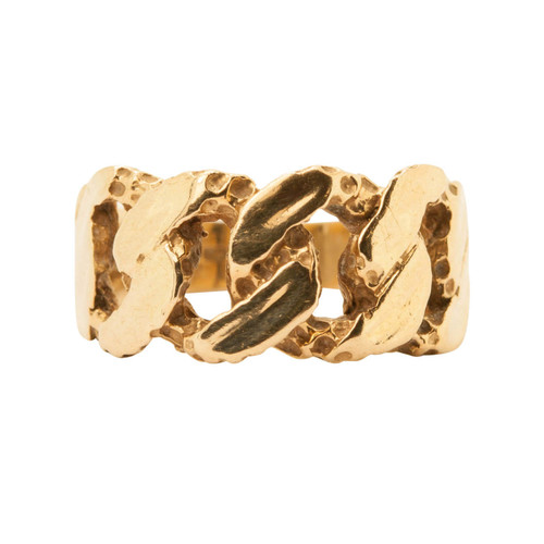 Second Hand 9ct Gold Cuban Link Ring