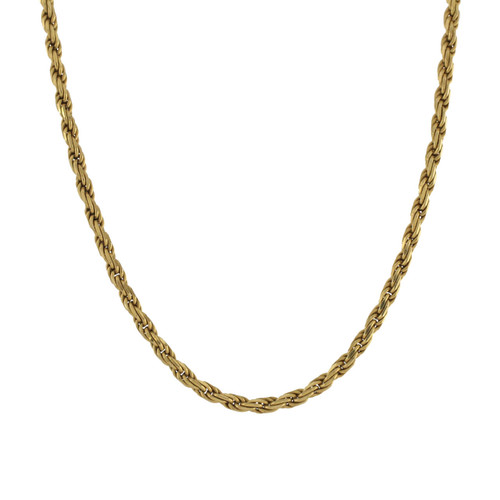 """Second Hand 18ct Gold Solid 18"""" Rope"""