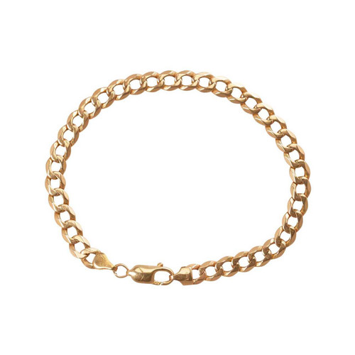 Second Hand 9ct Gold Flat Curb Bracelet