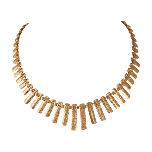 Second Hand 1970's 9ct Gold Cleopatra Collar Necklace