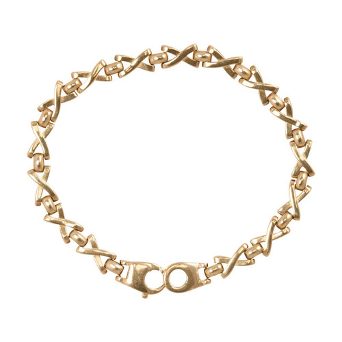 Second Hand 9ct Gold Kisses Fancy Link Bracelet