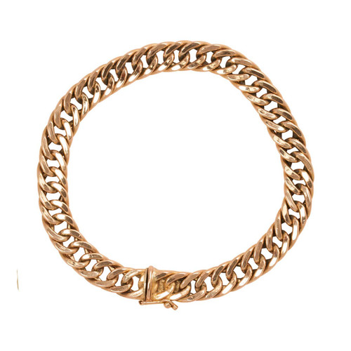 Second Hand Flat Curb Bracelet in 9ct Gold