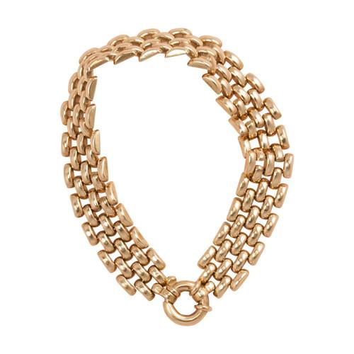 Second Hand 9ct Gold 4 Row Brick Bracelet