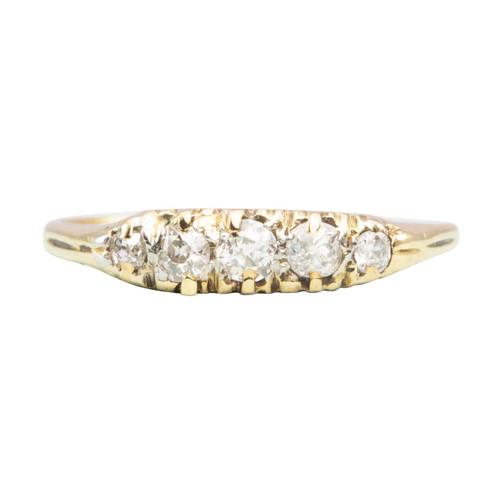 Vintage 18ct Gold 5 Stone 0.50 Carat Diamond Ring
