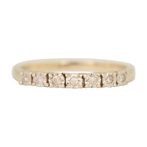 Second Hand 9ct Gold 7 Stone Diamond Eternity Ring