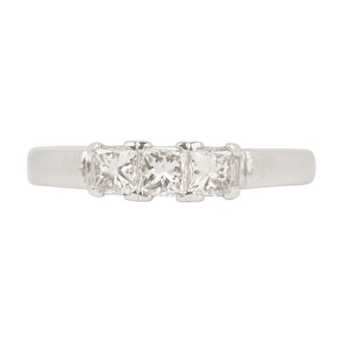 Second Hand 18ct Gold 3 Stone Princess Cut Diamond Ring