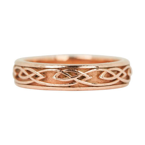 Second Hand 9ct Rose Gold Celtic Wedding Band Ring