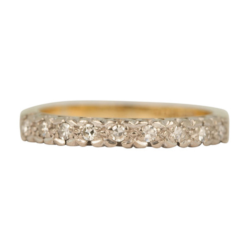 Second Hand 18ct Gold Nine Stone Diamond Eternity Ring