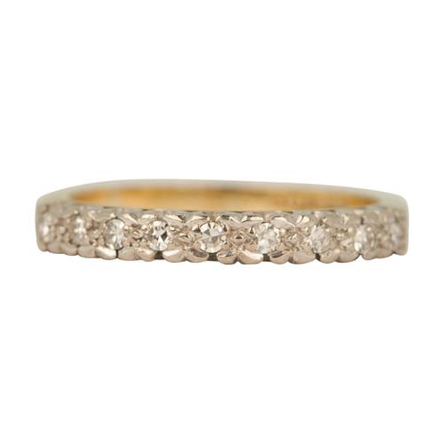 Second Hand 18ct Gold Nine Stone Diamond Eternity Ring