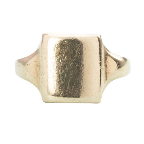 Vintage 9ct Gold Rectangle Signet Ring
