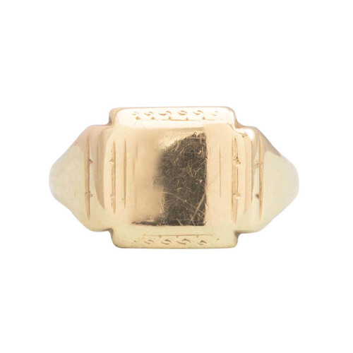 Second Hand 9ct Gold Square Signet Ring