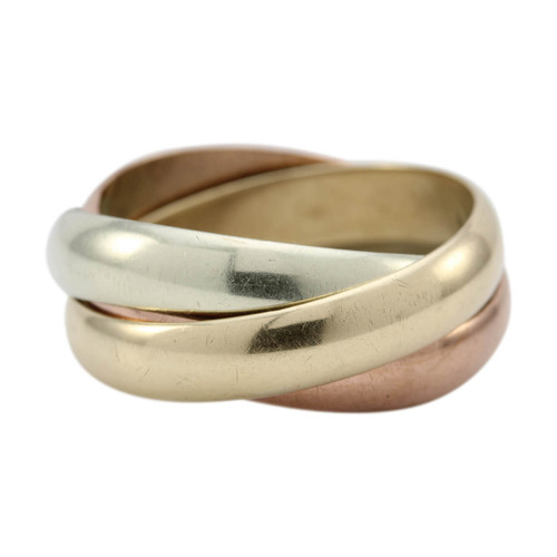 Second Hand 3 Colour 9ct Gold Russian Wedding Ring