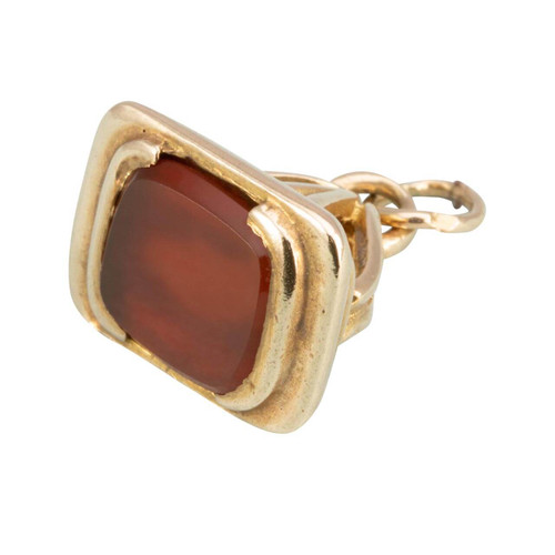 Antique Victorian 9ct Gold Carnelian Fob