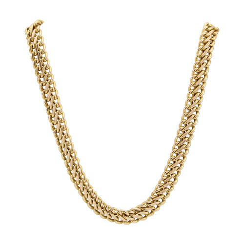 Second Hand 9ct Gold Double Curb Link Necklace