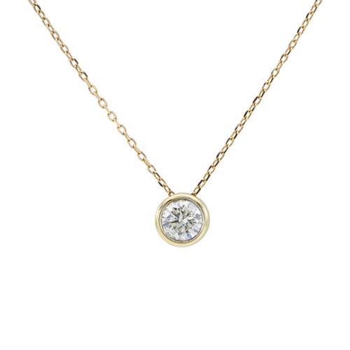 Second Hand 14ct Gold 0.50 Carat Diamond Solitaire Pendant & Chain