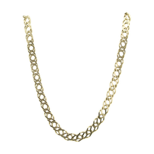 "Second Hand 9ct Gold 20"" Double Link Curb Chain Necklace"