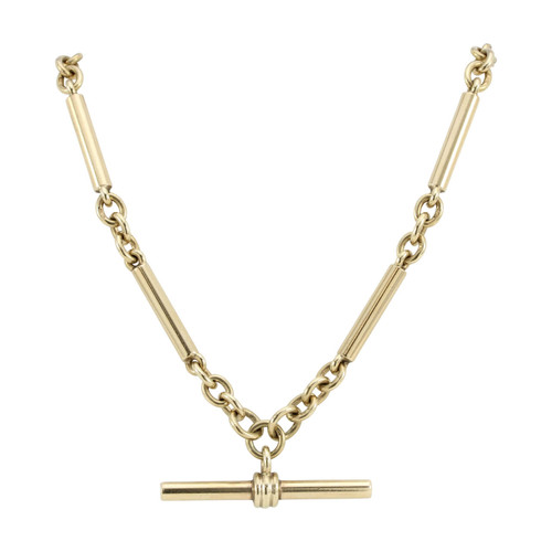 "9ct Gold Albert 18"" Chain Necklace"