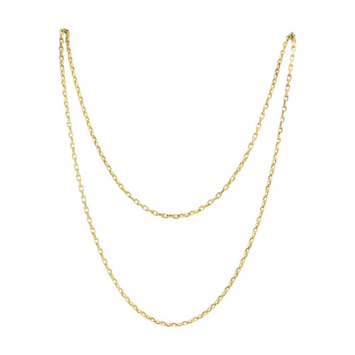 """Vintage 14ct Gold 41"""" Cable Chain Necklace"""