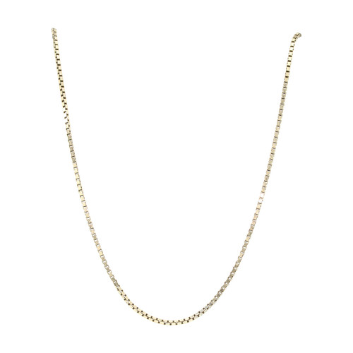 "Second Hand 9ct Gold 20"" Box Chain Necklace"