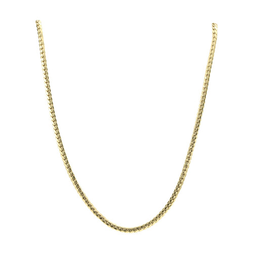 """Second Hand 18ct Gold 17"""" Herringbone Chain Necklace"""