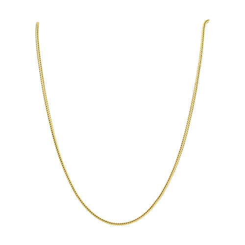 """Vintage 9ct Gold 17"""" Foxtail Chain Necklace"""
