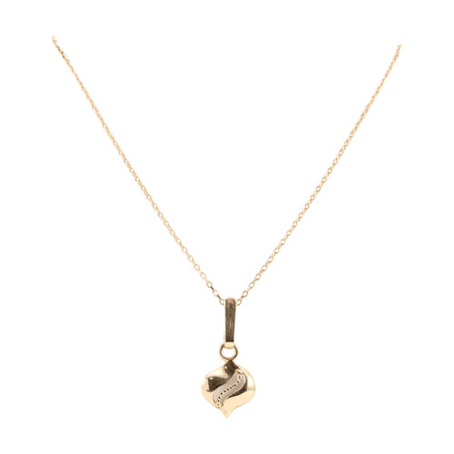 Second Hand 14ct Rose Gold Leaf Pendant with Chain