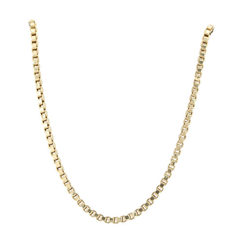 "Second Hand 9ct Gold 18"" Heavy Box Chain Necklace"