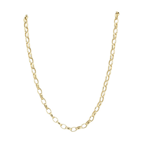 "Second Hand 24"" 9ct Gold Belcher Chain"