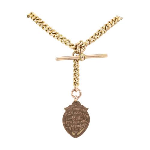 """Antique Victorian Gold 14"""" Albert Watch Chain"""