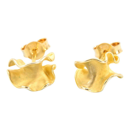 Second Hand 9ct Gold Frill Stud Earrings